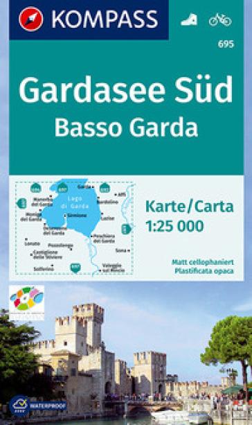 Carta escursionistica n. 695. Basso Garda-Gardasee Sud 1:25.000. Ediz. bilingue