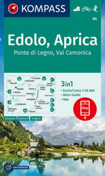 Carta escursionistica n. 94. Ponte di Lgno, Val Camonica 1:35.000