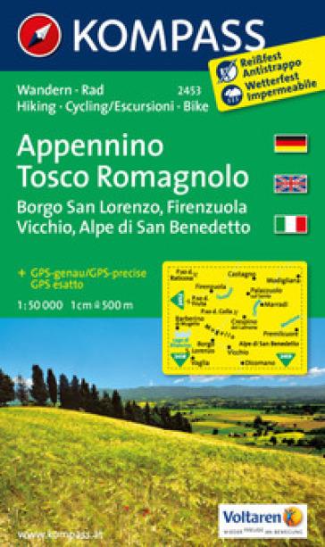 Carta escursionistica n. 2453. Appennino Tosco Romagnolo 1:50.000. Ediz. multilingue