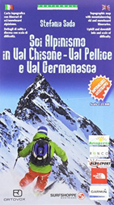 Carta n. 97. Sci alpinismo in Val Chisone, Val Pellice e Val Germanasca 1:25000