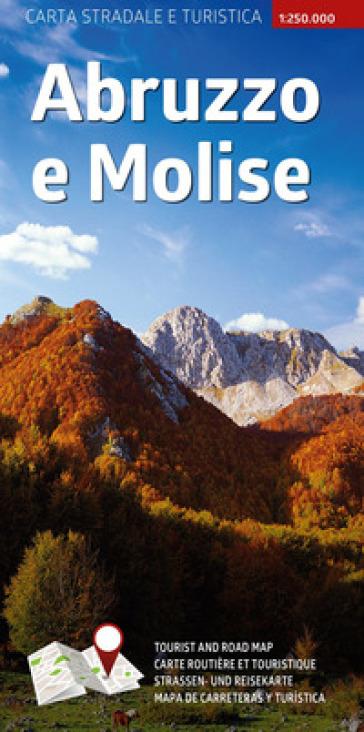 Carta stradale e turistica plastificata. Abruzzo e Molise. 1:250.000 - AA.VV. Artisti Vari  