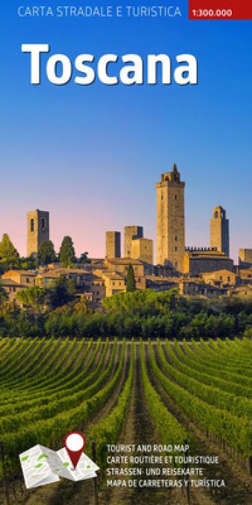 Carta stradale e turistica plastificata. Toscana. 1:300.000 - AA.VV. Artisti Vari  