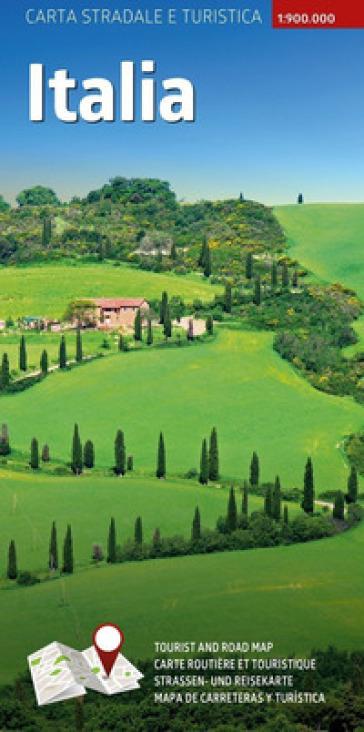 Carta stradale e turistica plastificata. Italia. 1:900.000