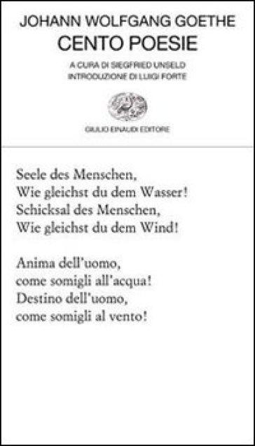 Cento poesie - Johann Wolfgang Goethe   Kritjur.org