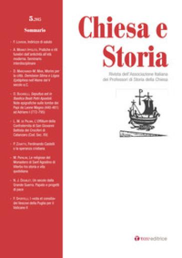 Chiesa e storia. 5. - Associazione italiana dei Professori di Storia della Chiesa   Kritjur.org