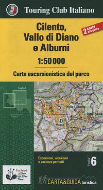 Cilento, Vallo di Diano e Alburni 1:50.000. Carta escursionistica del parco. Con Libro: Guida del parco