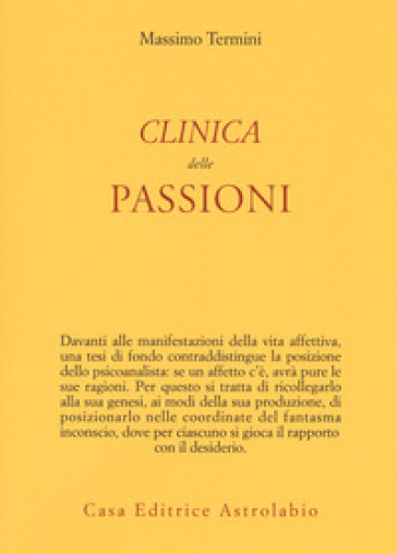 Clinica delle passioni - Massimo Termini  