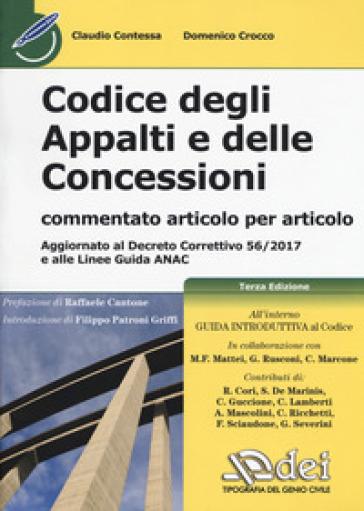 Codice degli appalti e delle concessioni - Claudio Contessa pdf epub