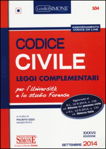 Codice civile leggi complementari con aggiornamento for Leggi libri online