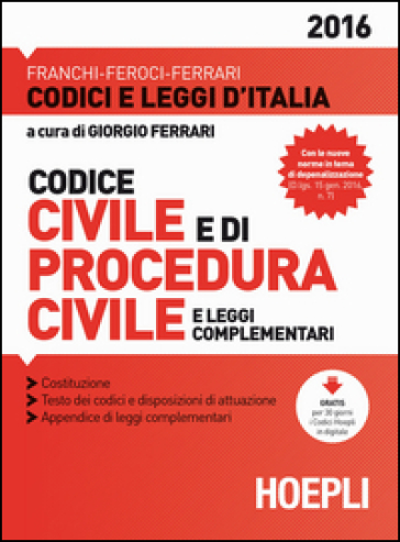 Codice civile e di procedura civile