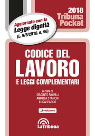 Codice del lavoro e leggi complementari - G. Favalli | Ericsfund.org