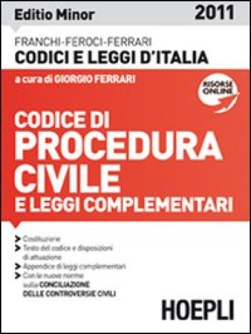 Codice di procedura civile 2011. Ediz. minore