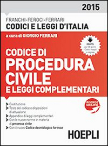 Codice di procedura civile 2015