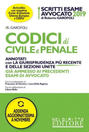 Codici di civile e penale. Annotati con la giurisprudenza più recente e delle sezioni unite. Con aggiornamento online - Roberto Garofoli | Ericsfund.org