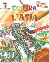 Colora l'Asia. Con stickers