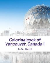 Coloring Book of Vancouver, Canada I