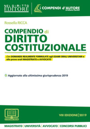 Compendio di diritto costituzionale. Con espansione online - Rossella Ricca | Thecosgala.com