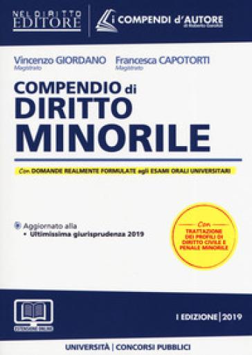 Compendio di diritto minorile. Con espansione online - Vincenzo Giordano |