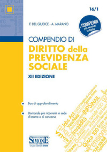 Compendio di diritto della previdenza sociale. Con espansioni online - Federico Del Giudice pdf epub