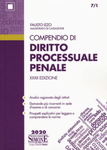 Compendio di diritto processuale penale - Fausto Izzo pdf epub