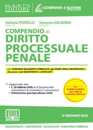 Compendio di diritto processuale penale. Con aggiornamento online - Stefania Pontillo   Ericsfund.org