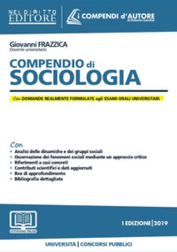 Compendio di sociologia. Con espansione online - Giovanni Frazzica |