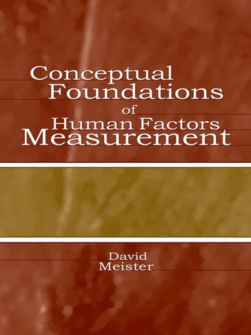 Conceptual Foundations of Human Factors Measurement