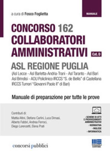 Concorso 162 assistenti  e collaboratori amministrativi ASL Puglia