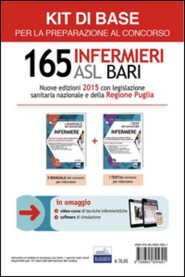 Concorso 165 infermieri ASL Bari: Manuale e test per la preparazione al concorso-Kit base. Con software di simulazione