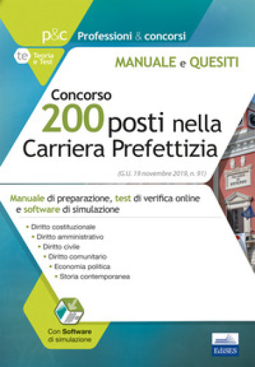 Concorso 200 posti nella carriera prefettizia. Con software di simulazione -  pdf epub