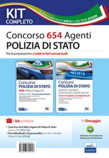 Concorso 654 allievi agenti Polizia di Stato. Kit. Con software di simulazione - P. Nissolino |