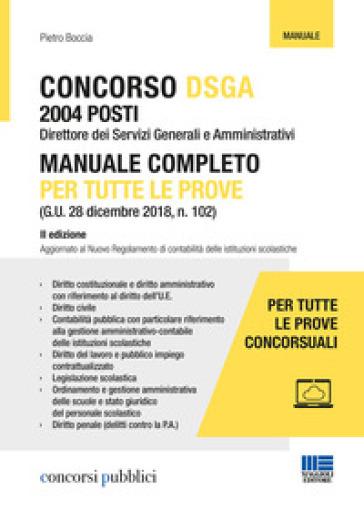 Concorso DSGA. Manuale completo per tutte le prove - Pietro Boccia pdf epub