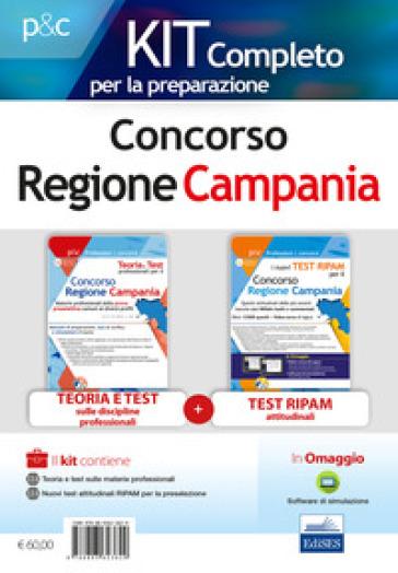 Concorso Regione Campania. Kit completo per la preparazione: Teoria e test sulle materie professionali-Nuovi test attitudinali RIPAM per la preselezione. Con software di simulazione - Carla Iodice |