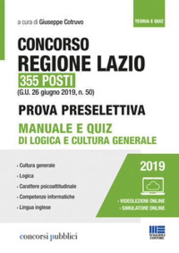 Concorso Regione Lazio 355 posti - G. Cotruvo  