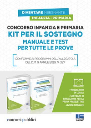 Concorso infanzia e primaria. Kit per il sostegno. Manuale e test per tutte le prove. Con software di simulazione - Pietro Boccia | Thecosgala.com