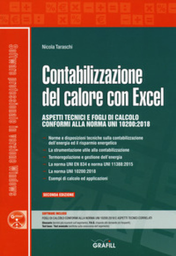 Contabilizzazione del calore con Excel. Con software di simulazione - Nicola Taraschi | Jonathanterrington.com