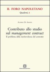 Contributo allo studio sul management contract