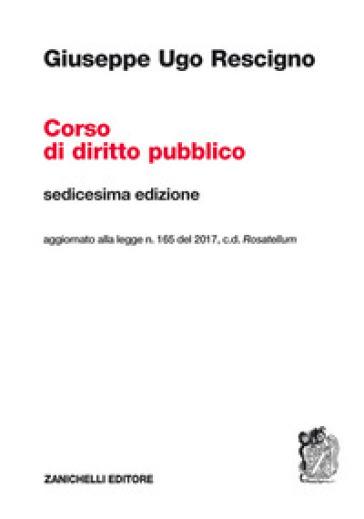 Corso di diritto pubblico - Giuseppe Ugo Rescigno pdf epub