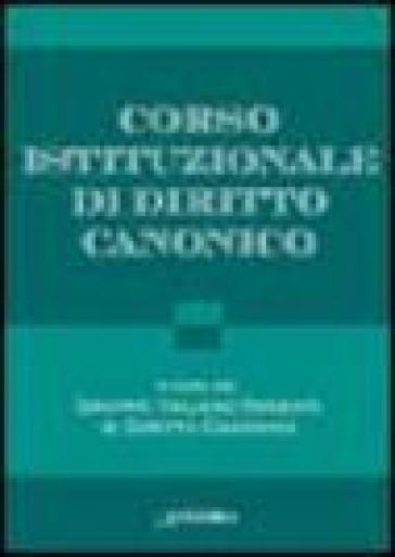 Corso istituzionale di Diritto Canonico - Gruppo italiano docenti di diritto canonico  
