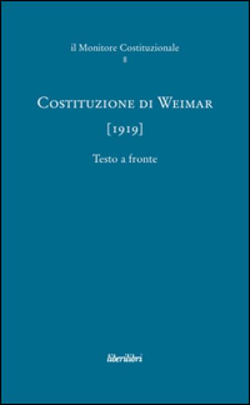 Costituzione di Weimar (1919) - M. Carducci   Rochesterscifianimecon.com