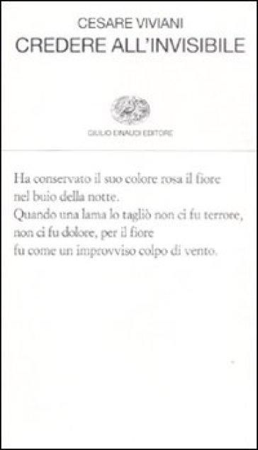 Credere all'invisibile - Cesare Viviani   Kritjur.org