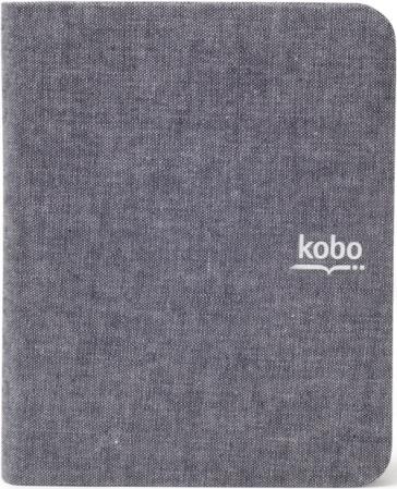 Custodia sleep cover in tessuto per kobo mini. colore grigio