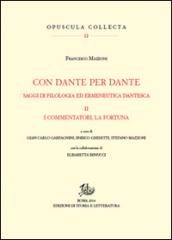 Image of Con Dante e per Dante. Saggi di filologia dantesca. 2.I commentatori, la fortuna di Dante