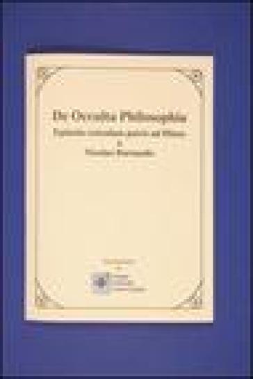 De occulta philosophia. Epistola cuiusdam patris ad filium - Nicolas Barnaud |