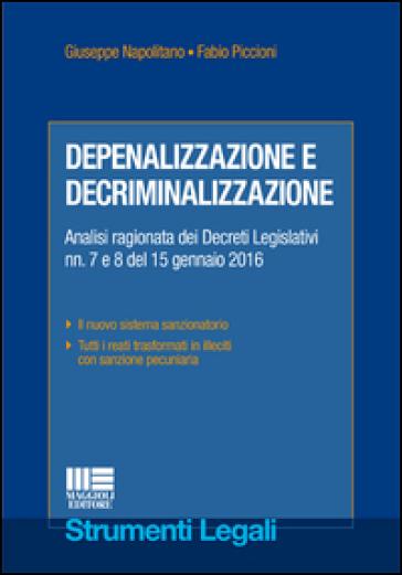 Depenalizzazione e decriminalizzazione - Giuseppe Napolitano   Thecosgala.com