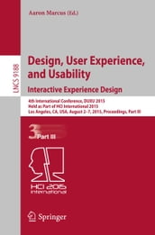 Design, User Experience, and Usability: Interactive Experience Design