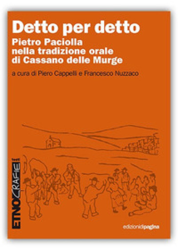 Detto per detto. Pietro Paciolla nela tradizione orale di Cassano delle Murge - P. Cappelli   Kritjur.org