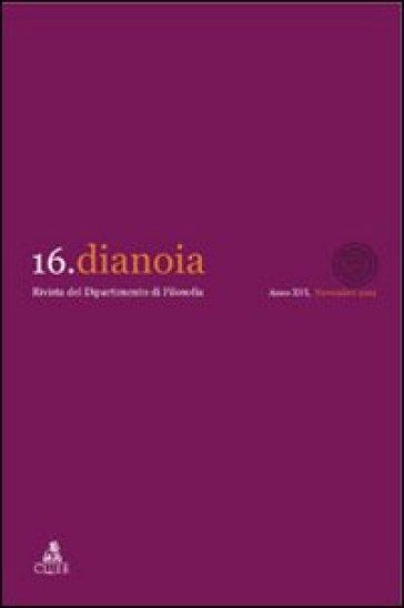 Dianoia. Annali di storia della filosofia. 16. - D. Felice   Jonathanterrington.com