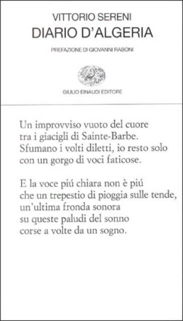Diario d'Algeria - Vittorio Sereni pdf epub