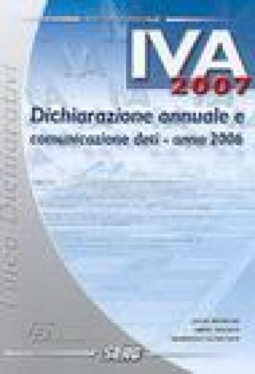 Dichiarazione annuale IVA 2007 - Armando Roncher | Ericsfund.org